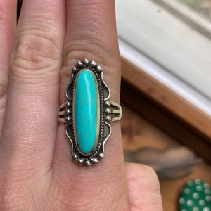 Size 7 Turquoise and Sterling Silver ring